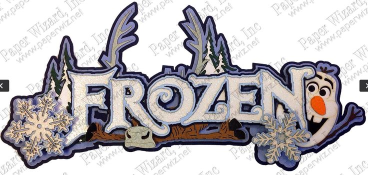Frozen Title by Paper Wizard.  Available at www.paperwiz.net