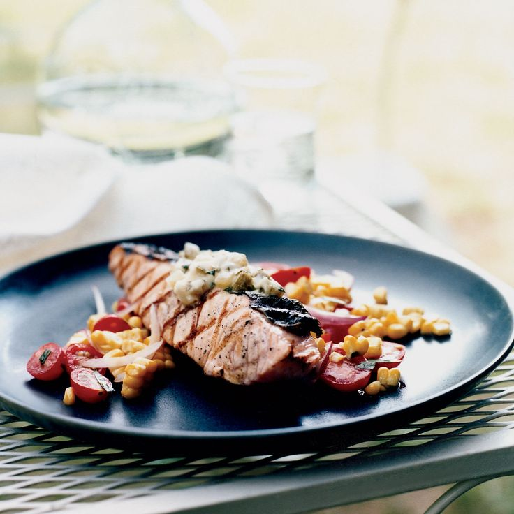 Grilled Salmon with Dill Pickle Butter   Food & Wine
