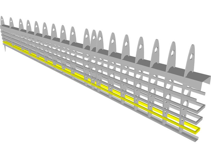 Aircraft Wing Structure 3D Model