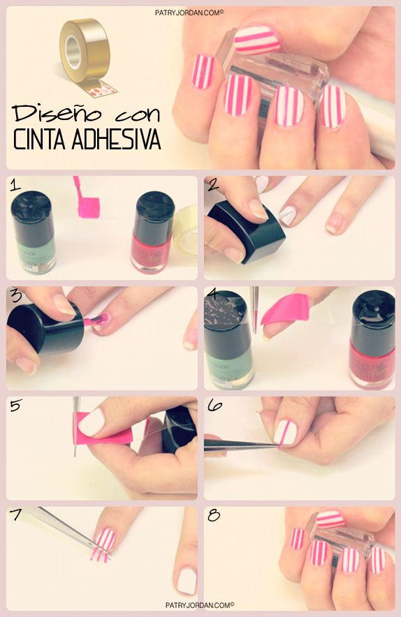 17 best images about nails arts paso a paso on pinterest for Como decorar unas facil