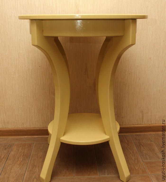 Купить столик для кофе - лимонный, столик, столик журнальный, Столик для кофе, подставка, подставка для цветов