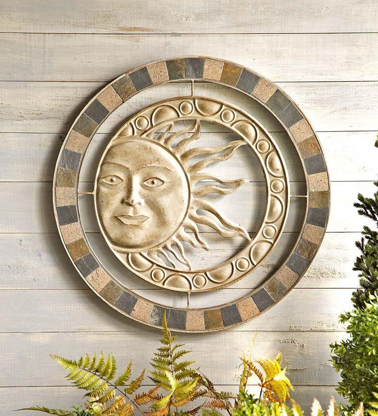 Outdoor Sun Wall Art 72 best sun, moon & stars images on pinterest | garden art, garden