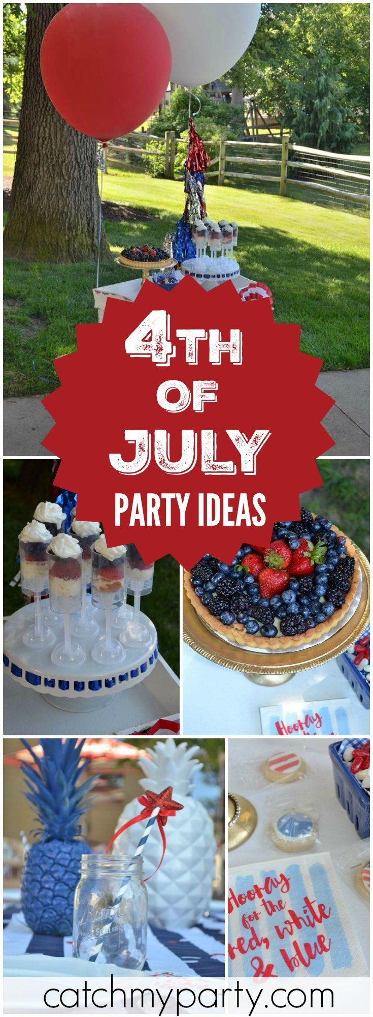 413 best July 4th Party Ideas images on Pinterest | July 4th ...