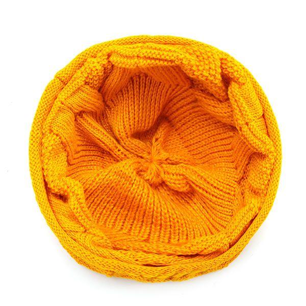 Mens Women Knitted Bonnet Beanie Hat Casual Woolen Winter Warm Hat at Banggood