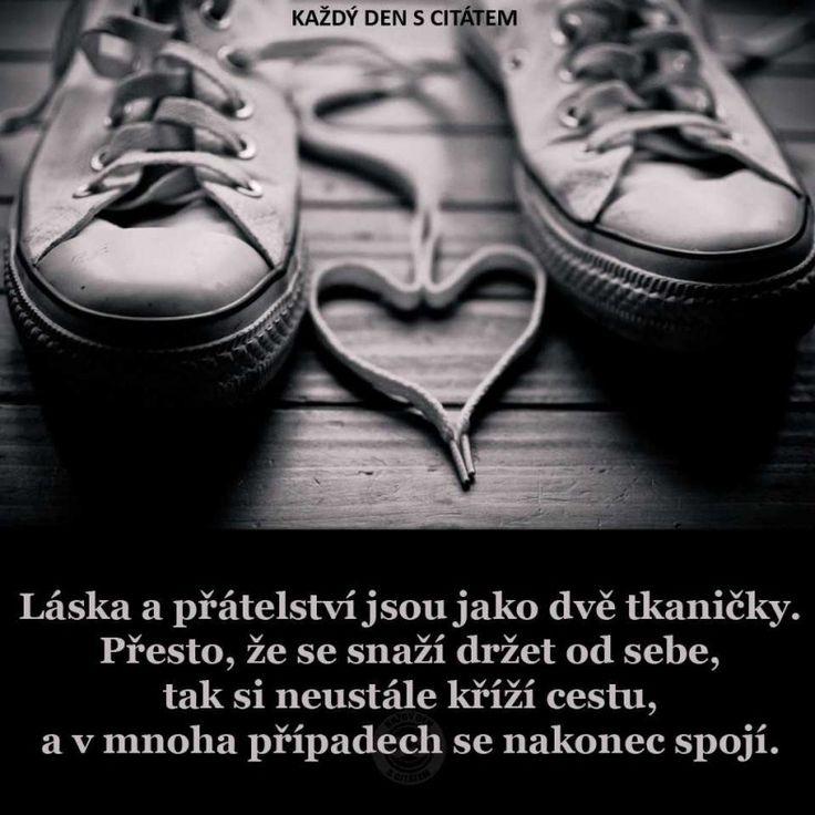 Láska a přátelství jsou jako dvě tkaničky | citáty o lásce