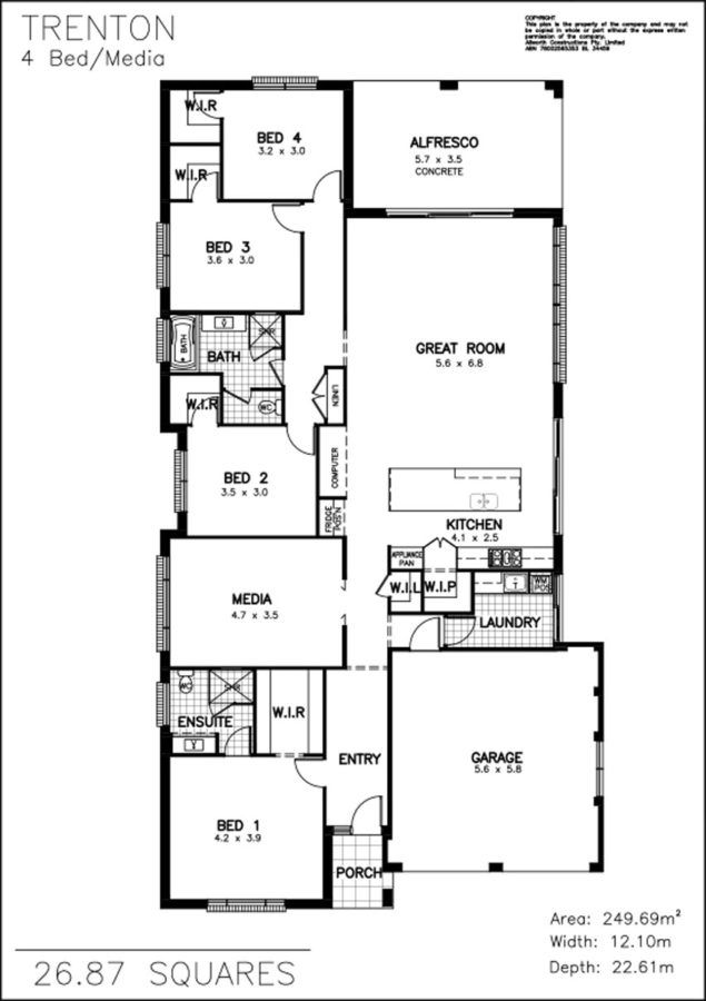 Trenton Allworth Homes A Home That Ticks All The Boxes Trenton Floor Plans How To Plan