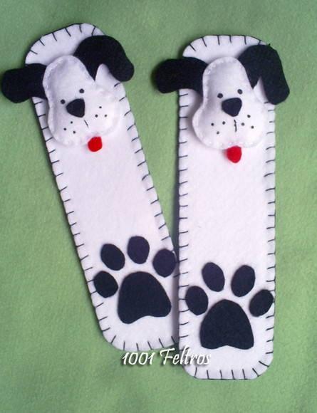 dog paw bookmark