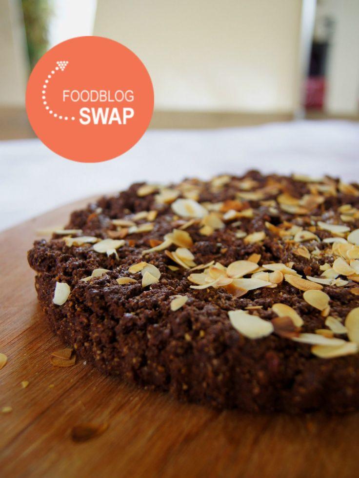Glutenvrij en suikervrije chocoladetaart