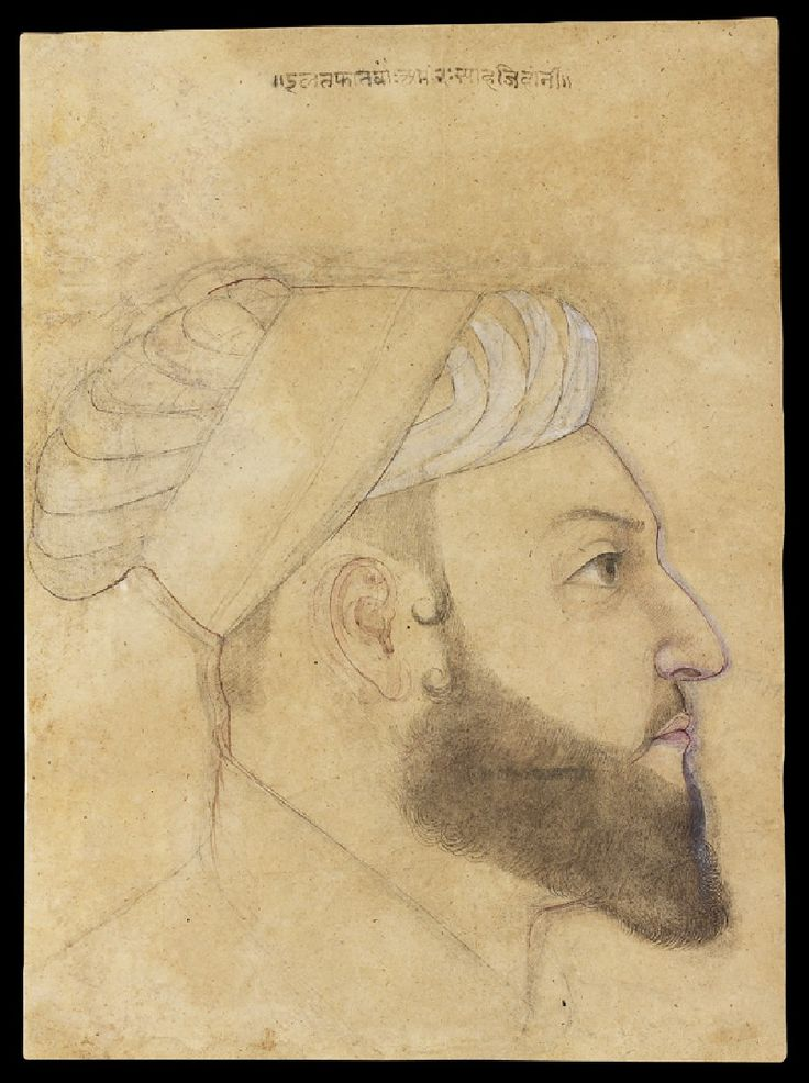 Head of the courtier Iltifat Khan (front) © Ashmolean Museum, University of Oxford