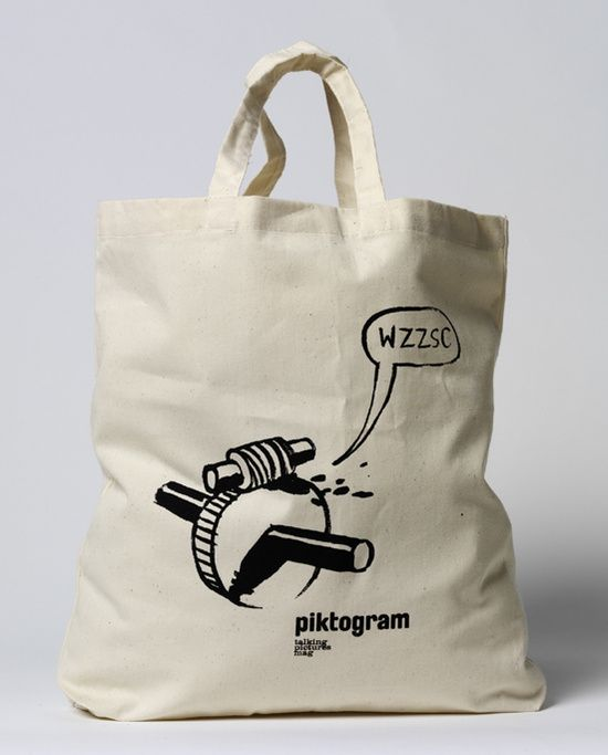 Wilhelm Sasnal 'Bag (Benefit for pictogram)' Fabric bag