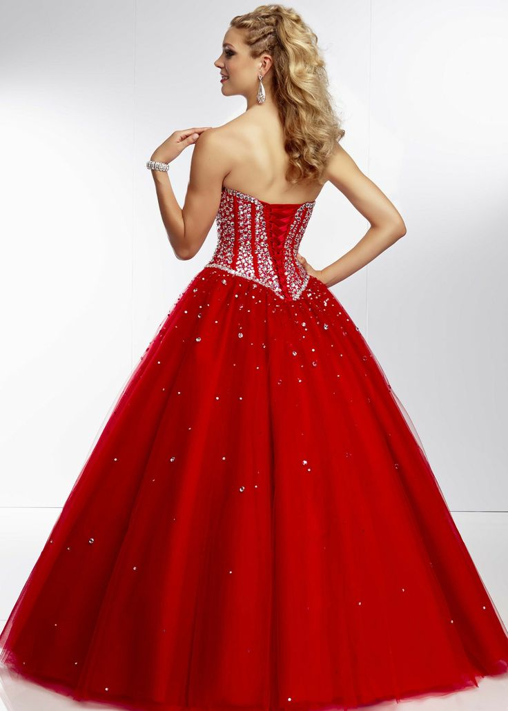 Mori Lee 95029 - Scarlet Beaded Corset Ball Gown - RissyRoos.com