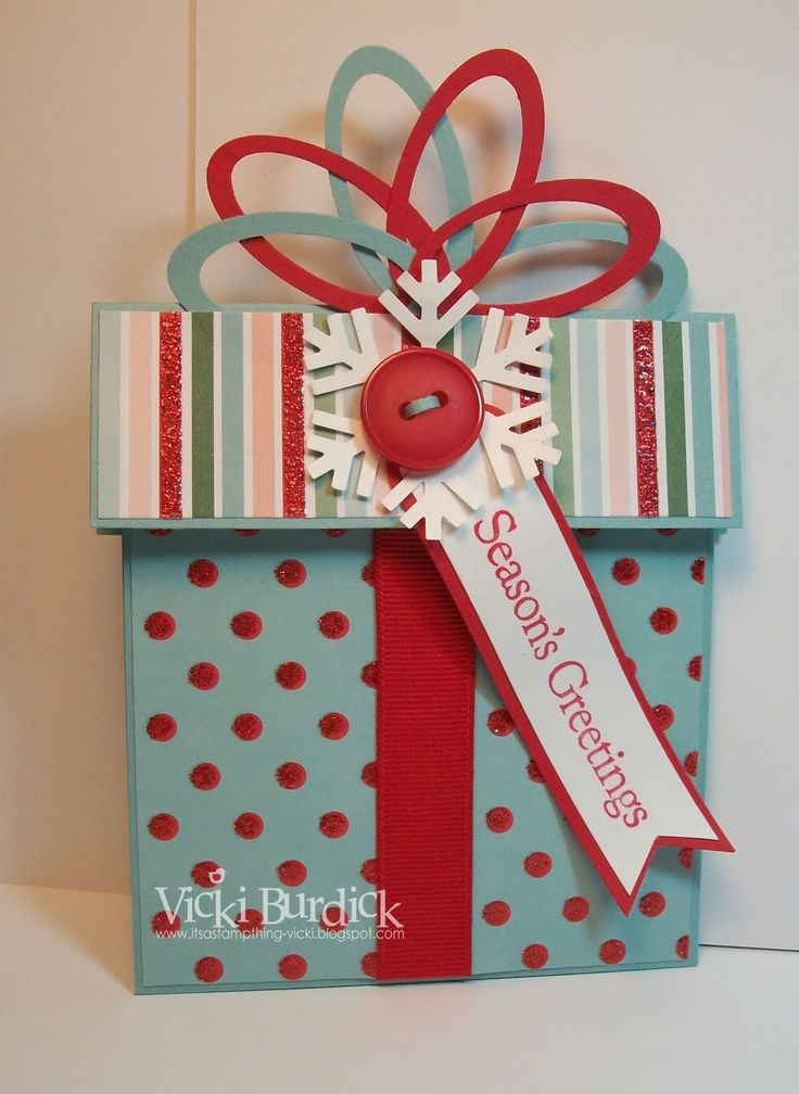 Holiday Card Holder~ This is a cute way to give a gift card or money for the holidays.