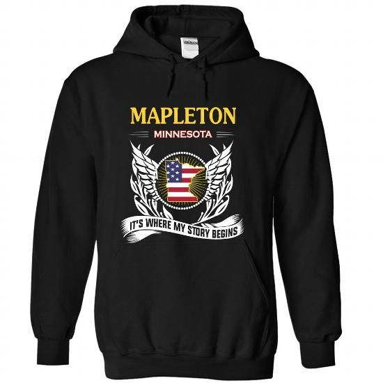 MAPLETON- Its Where My Story Begins! - #grey tee #gray sweater. GET => https://www.sunfrog.com/No-Category/MAPLETON-Its-Where-My-Story-Begins-2526-Black-Hoodie.html?68278