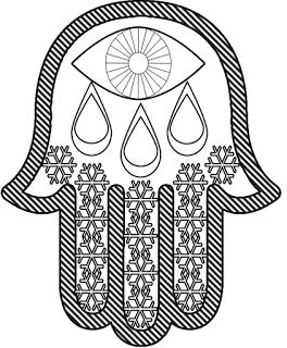 Smile Will Save The Day Coloring Pages For Adults Hamsa