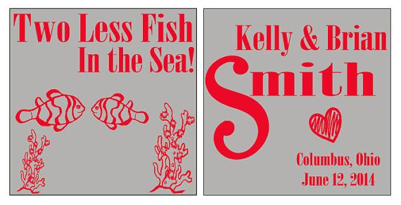 17 best images about koozies on pinterest sweet peas for Two less fish in the sea