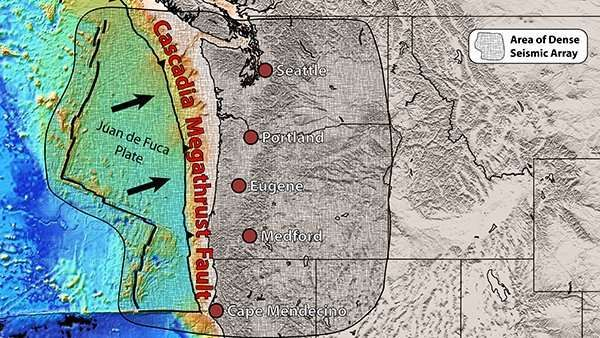Pieces Of Mantle Found Rising Under North And South Ends Of Cascadia Fault Subduction Zone Earth S Mantle Cascadia
