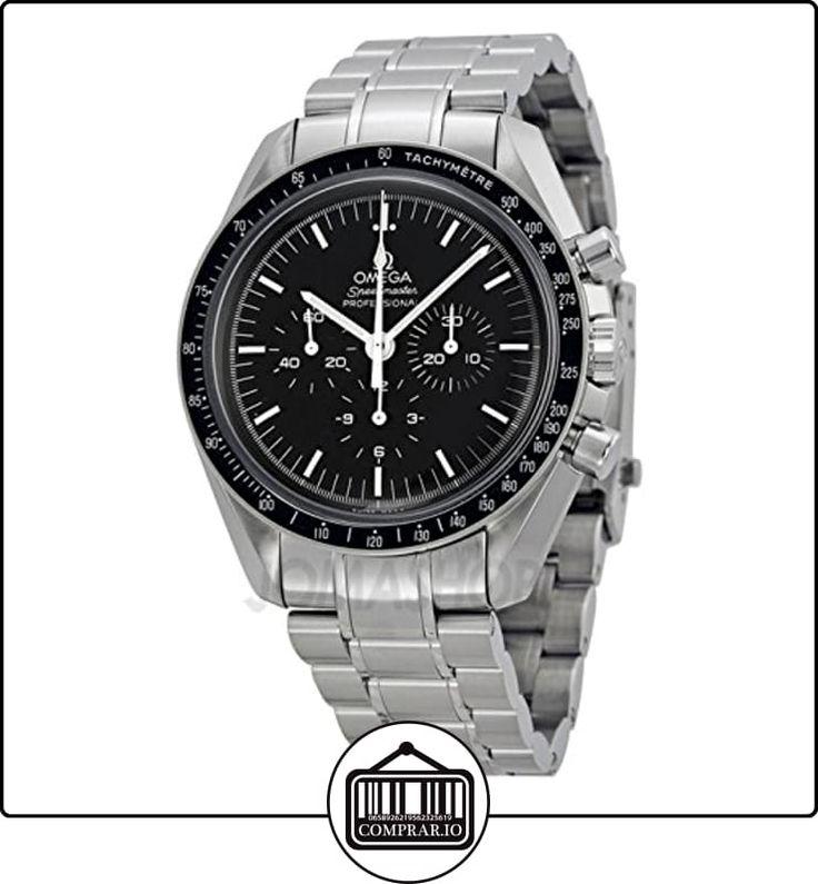 Omega Omega Speedmaster Profesional MoonReloj Negro Dial Acero inoxidable Acero Mens Reloj  ✿ Relojes para hombre - (Lujo) ✿