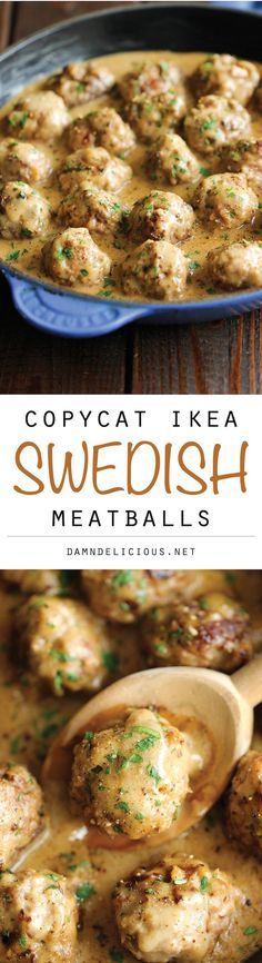 Swedish Meatballs - Nothing beats homemade meatballs smothered in a creamy gravy sauce, and they taste much better than the IKEA version!: