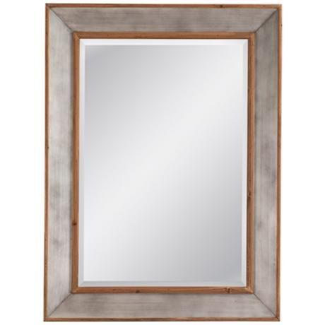 "Bassett Matthews Wood and Aluminum 36"" x 48""  Mirror"