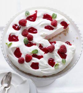 Pfefferminz-Quarktorte - Kühlschrankkuchen: Kuchen ohne Backen - [LIVING AT HOME]