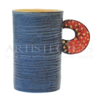Κούπα Κεραμική Μακρόστενη Μπλε Σαγρέ. Αποκτήστε το online πατώντας στον παρακάτω σύνδεσμο http://www.artistegifts.com/koupa-keramiki-makrosteni-mple-sagre.html