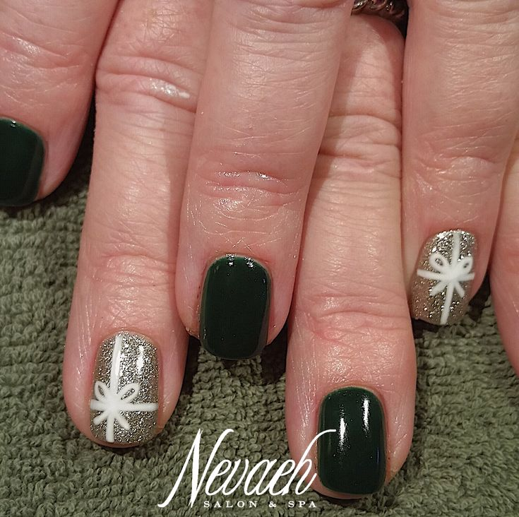 The 25 best christmas present nail art ideas on pinterest who has all of their christmas shopping done only 3 more days gel polish manicure cute present nail art by kimberly prinsesfo Choice Image