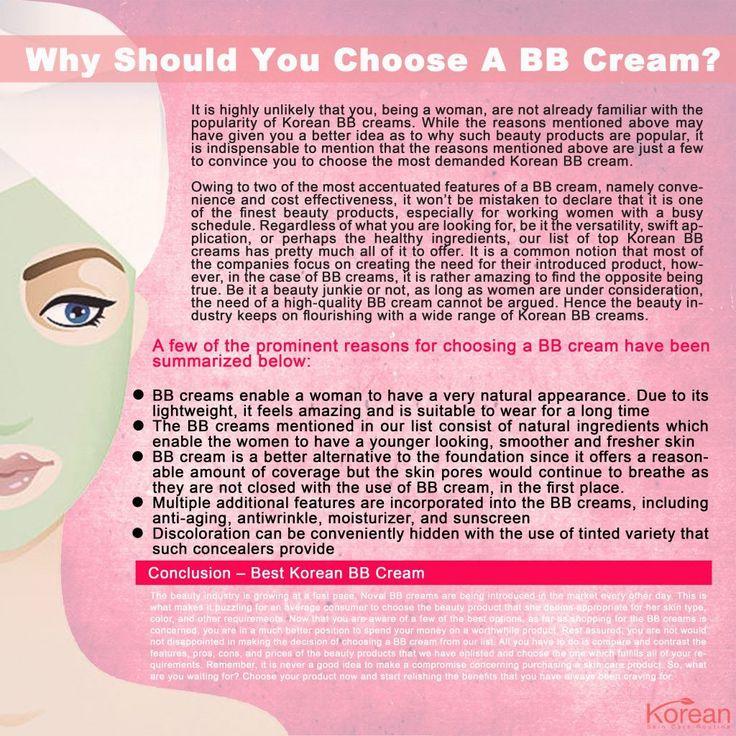 Best Korean BB Cream Infographic