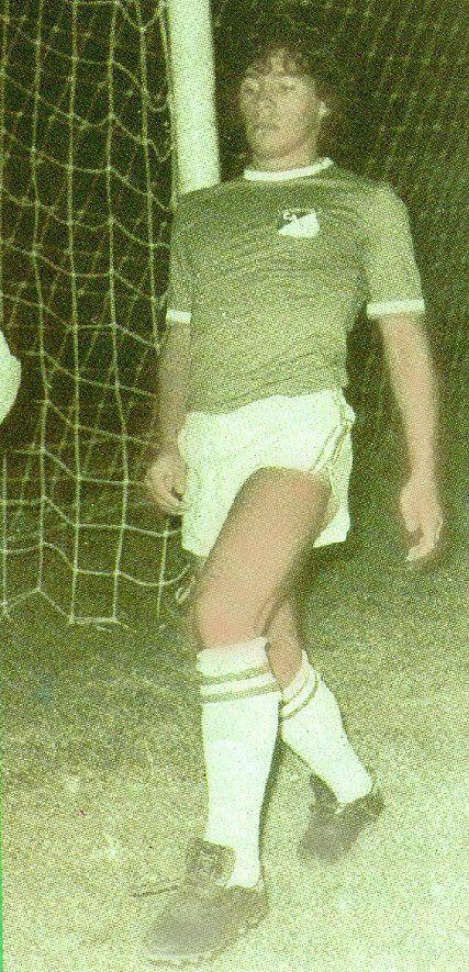 Maradona con el uniforme del Cali - Deportivo Cali