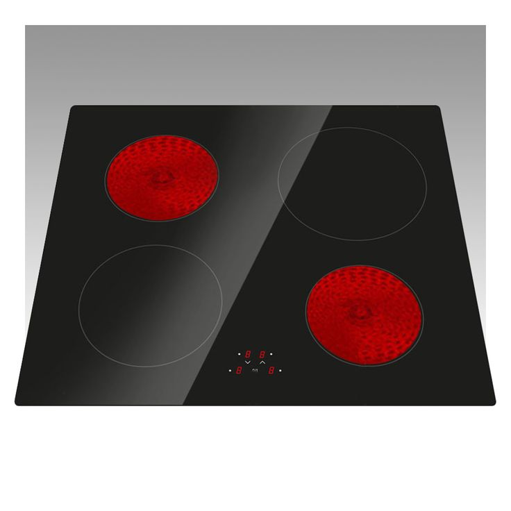 60cm 4 Ring Electric Frameless Ceramic Induction Hob