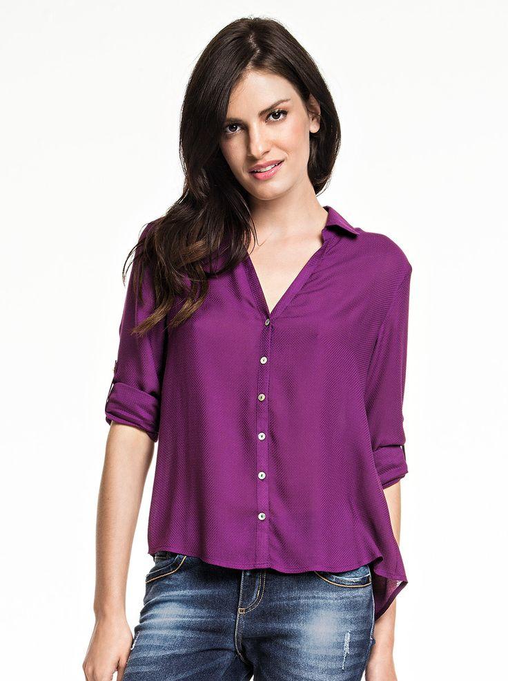 Camisa Feminina Em Viscose Com Abertura Frontal | Camisas | Feminino | Hering