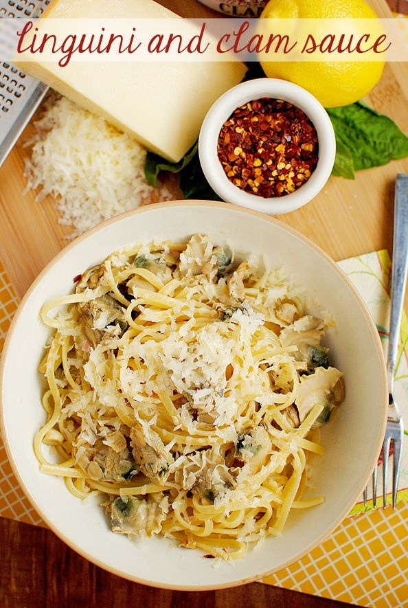 Linguini and Clam Sauce  {Iowa Girl Eats, from the new cookbook White Jacket Required, by the author of the blog Eat, Live, Run.}