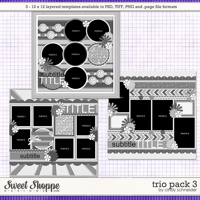 Cindy's Layered Templates: Trio Pack 3 by Cindy Schneider
