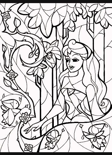 19 best Disney Stained glass images on Pinterest | Coloring book ...