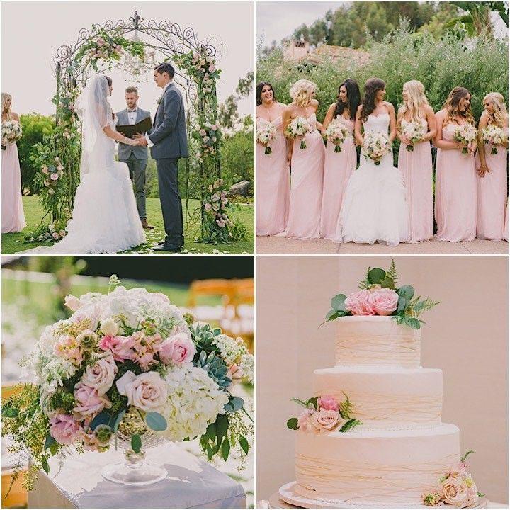 Pink California Wedding at Rancho Valencia - MODwedding