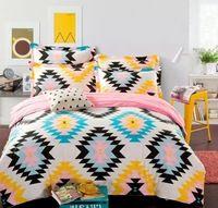 Algodão conjunto de cama queen, Tampa consolador conjuntos de cama, 4 pcs conjunto de roupa de cama, Roupas de cama ( incluem capa de edredon, Folha de cama, Fronha ) e 45