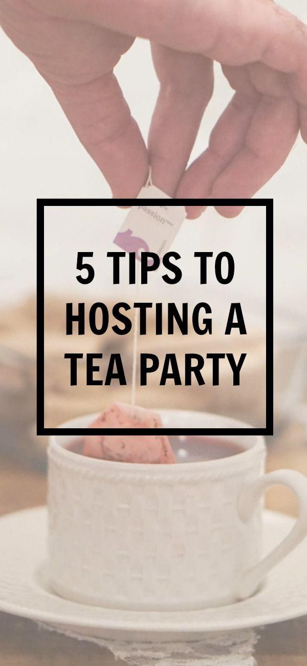 5 tips to hosting a tea party | how to throw a tea party | tazo tea | entertaining