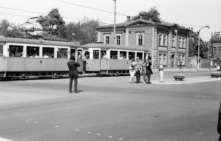 Tramwaj na Piłsudskiego. Kraków, 1967 rok.
