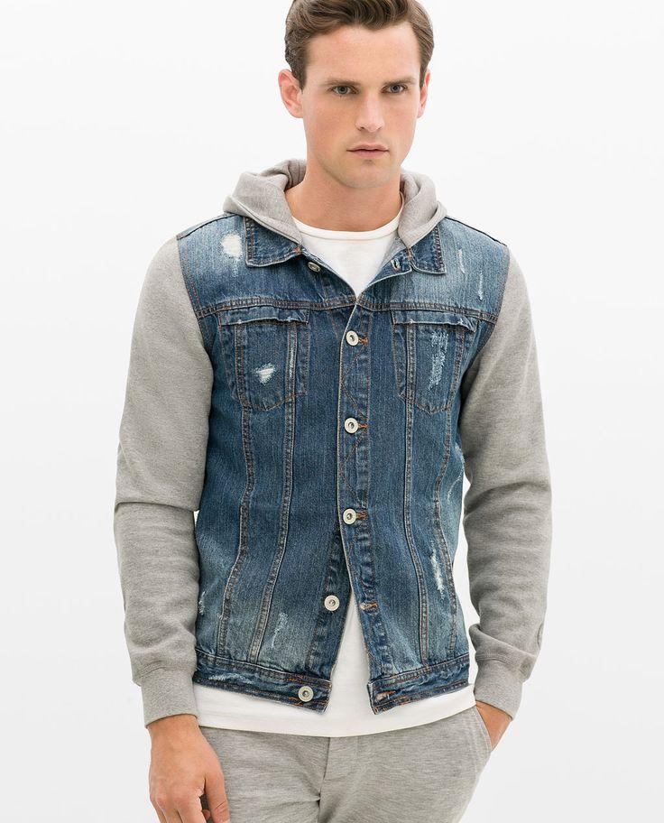 Fleece Sleeve Denim Jacket oZGatN
