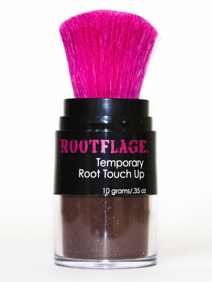 Rootflage Dark Brown Temporary Root Touch Up darkens gray/grey root regrowth and adds volume to hair without feeling sticky or tacky. Less than a minute to apply.