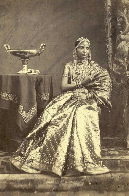 Portrait Of A Seated Girl Wearing Jewellery From Madras In Tamil Nadu Taken 1872