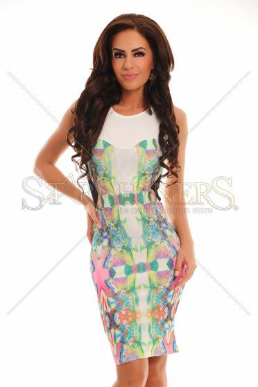Rochie Imposing Colors White