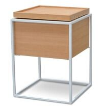 Cane Scandinavian Side Table - Oak