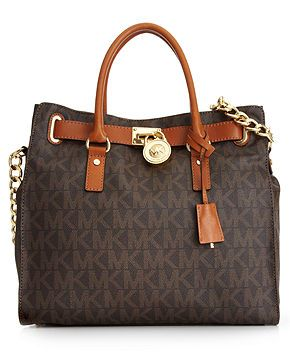 MICHAEL Michael Kors Handbag, Large Signature Hamilton - Handbags & Accessories - Macy's