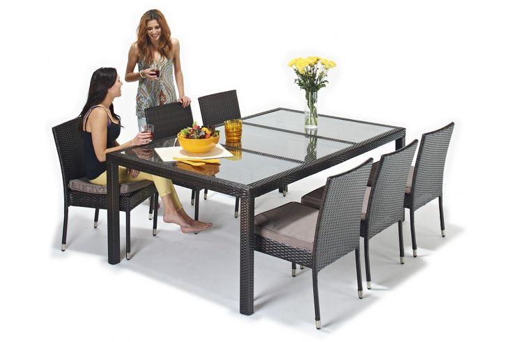 Seville Rattan 6 Seat Garden Dining Set