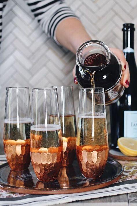 Earl Grey champagne cocktails - use #ConoSur Brut Sparkling wine