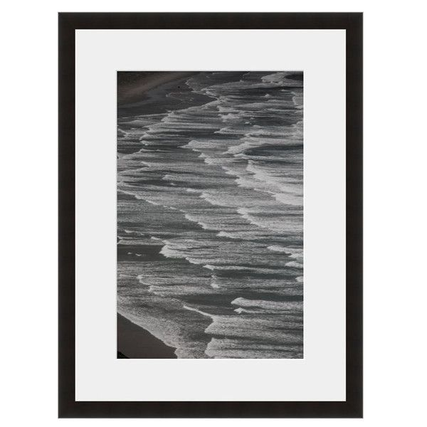 Image: Incoming Tide Photographer: Andy Katz Frame: Black Onyx #waves #gray #overlap #shore #sea #ocean #beach #tide  #sand #sun #eFrame