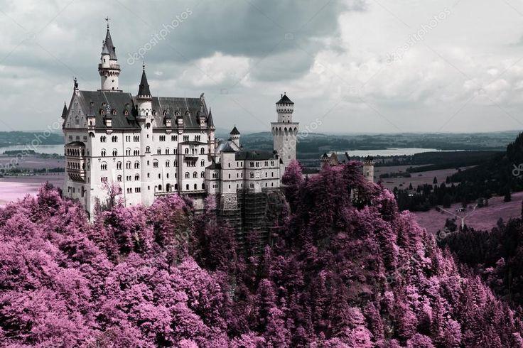 Ünlü neuschwanstein Şatosu, Bavyera, Almanya - Stok İmaj #9767996