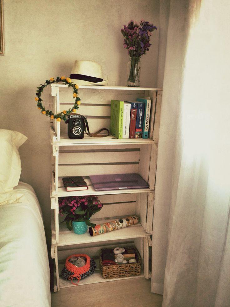 Fruit Crates DIY - Estantería con cajas de fruta  #handmade