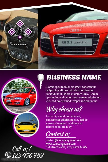 41 best Poster Concession Auto images on Pinterest | Cars, Flyers ...