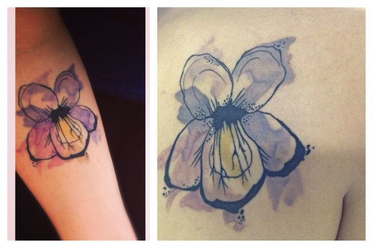 Sister watercolor violet tattoos!! | tats | Pinterest ...